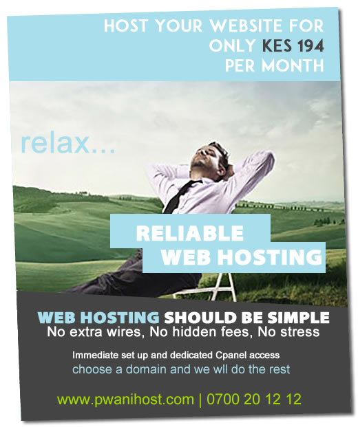 Cheap web hosting in Kenya